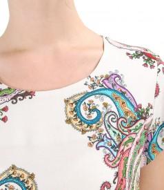 Rochie lejera din vascoza imprimata