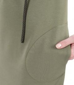 Rochie cu gluga din jerse elastic