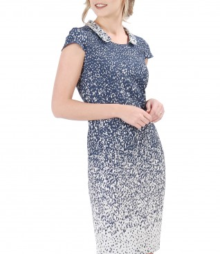 Rochie eleganta cu guler rotund