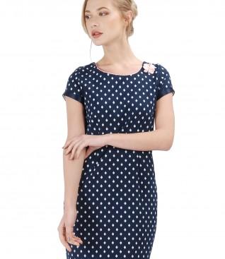 Rochie eleganta cu bumbac elastic