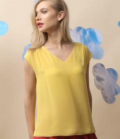 Bluza eleganta cu fata din voal