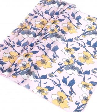 Esarfa din voal imprimat cu motive florale