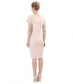 Rochie din jerse elastic cu buzunare laterale