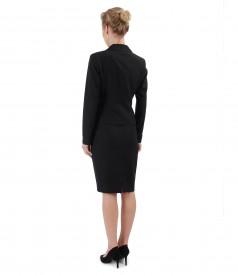 Costum office dama cu sacou si fusta cu vascoza