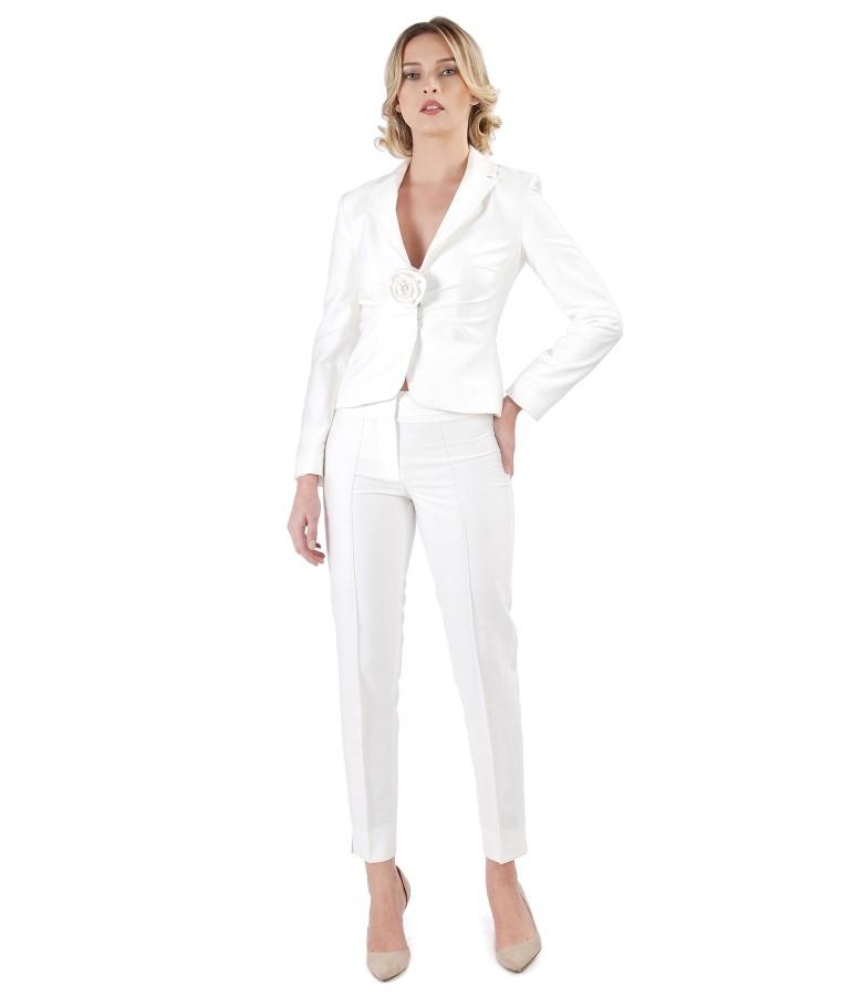 Costum office dama cu sacou si pantaloni cu vascoza