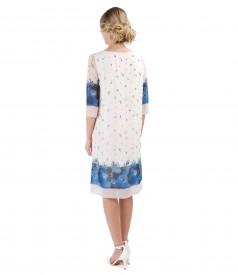 Rochie din voal imprimat cu motive florale