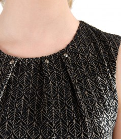 Rochie cu pliuri din catifea imprimata in relief