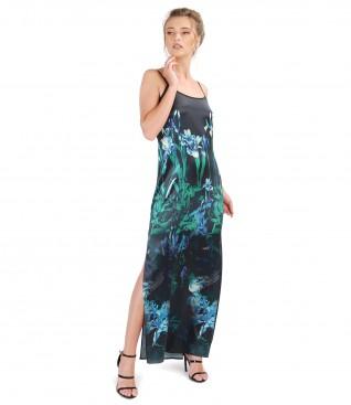 Rochie lunga din matase naturala elastica