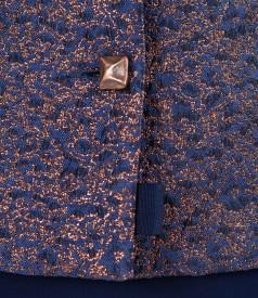 Sacou de ocazie din stofa brocata cu fir aramiu