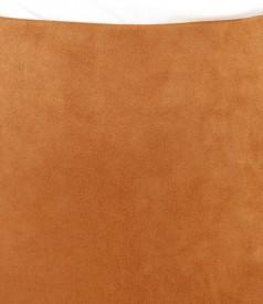 Fusta creion din stofa cu aspect catifelat
