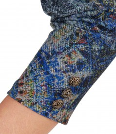 Rochie midi din jerse elastic cu buzunare laterale