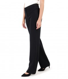 Pantaloni drepti din stofa elastica