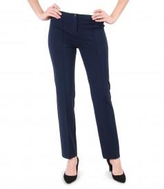 Pantaloni office din jerse elastic gros