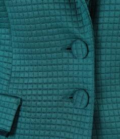 Sacou din brocart elastic cu motive geometrice
