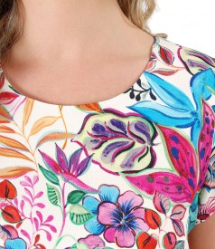 Rochie lejera din vascoza imprimata cu motive florale