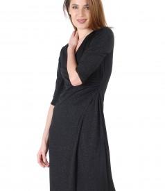 Rochie din jerse elasticcu efect lucios