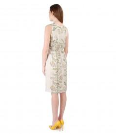 Rochie eleganta din vascoza imprimata cu flori
