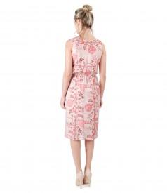 Rochie eleganta din viscoza imprimata cu flori