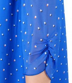 Rochie lejera din vascoza imprimata cu picouri