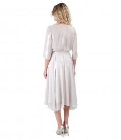 Rochie eleganta din voal sidefat