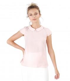 Bluza eleganta cu guler rotund