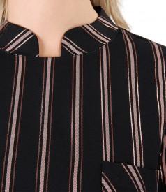 Bluza din vascoza cu fir metalic aramiu