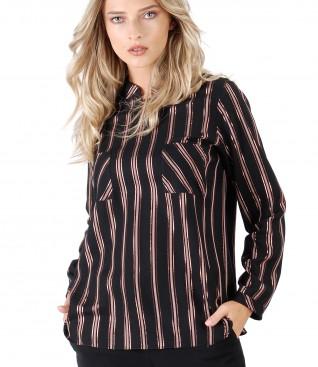 Bluza din viscoza cu fir metalic aramiu