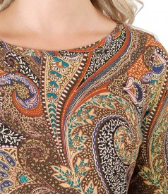 Bluza din jerse elastic imprimat digital