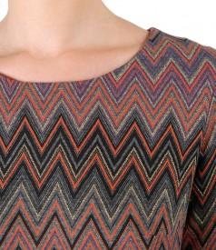 Rochie eleganta cu fir de lurex auriu