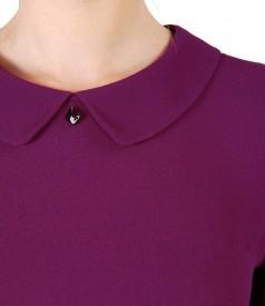 Bluza din viscoza cu guler rotund
