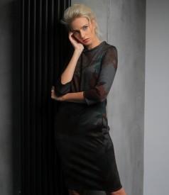 Rochie midi din jerse gros elastic