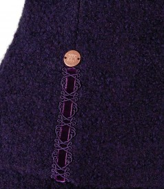 Sacou din bucle cu lana si alpaca