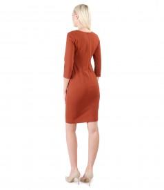 Rochie midi din jerse elastic gros cu buzunare laterale