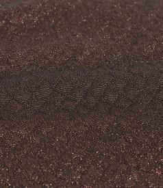 Sacou din brocart elastic cu fir de efect aramiu