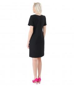 Rochie eleganta din stofa elastica neagra