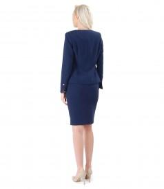 Costum dama office cu fusta si sacou cu fermoar