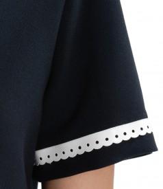 Rochie cu garnitura din piele ecologica