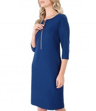 Rochie midi din stofa elastica cu fermoar