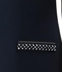 Rochie eleganta din stofa elastica groasa