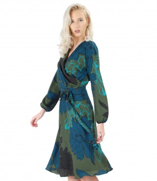 Rochie eleganta imprimata cu motive florale