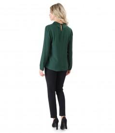 Bluza din vascoza cu lana si pantaloni pana