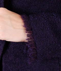 Sacou din bucle cu lana si aplaca