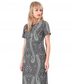 Rochie din stofa elastica imprimata