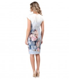 Rochie eleganta cu motive florale
