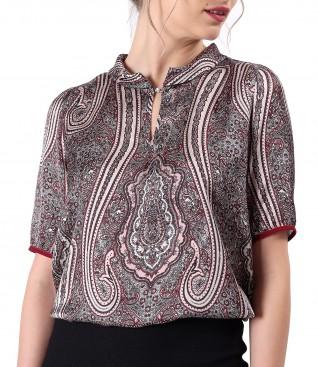 Bluza eleganta imprimata cu motive florale