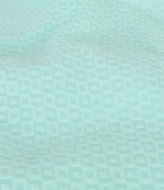 Rochie midi din bumbac texturat cu accesoriu