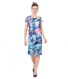 Rochie lejera imprimata cu motive florale