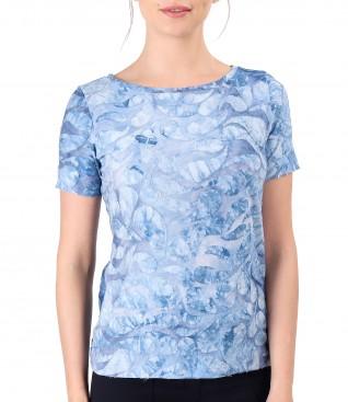 Bluza din jerse cu model tesut in relief