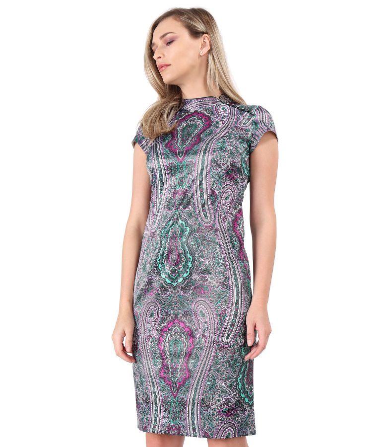 Rochie eleganta cu guler gen tunica