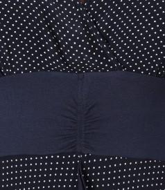 Rochie in colturi din viscoza imprimata cu picouri